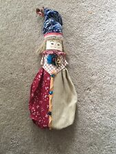 Doll Needlepoint Face Ooak Newspaper Body Doll Unique Clothing 13� Clown