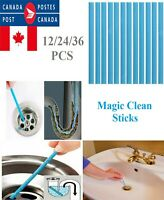 12/24/36PCS Set Magic Clean Sticks Drain Cleaner and Deodorizer Cleaning Tool CA