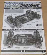 Tamiya 9808206/19808206 TT02D (Drift Spec) Instruction Manual (Chassis), NEW