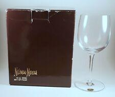 NEIMAN MARCUS EXCLUSIVE 4 BOHEMIA CRYSTAL10 oz WINE GLASSES