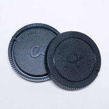 SONY ALPHA MINOLTA DYNAX REAR LENS CAP AND BODY CAP SET REPLACEMENT CAP GENERIC