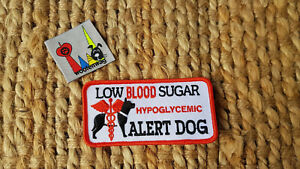NEW assistance dog Hypoglycemia alert patch K9 Embroidered iron on