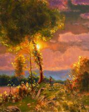 MAX COLE Art Oil Painting Vintage Impressionist Original Landscape Western LOVE