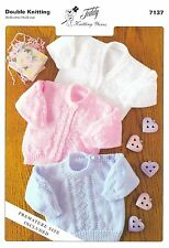 7137 Knitting pattern in DK for Babies  Premature size included (chest 35-55cms)