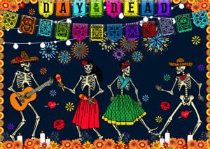 300 Pcs Puzzle Day of the Dead Skeleton Party Jigsaw Adult Kid Educational Toys