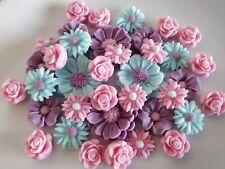 Cake decoration Edible Fondant sugar  flowers  35 items  per set)