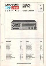 ITT GRAETZ - HIFI 8051+ C - Service Manual Schaltplan - B6508