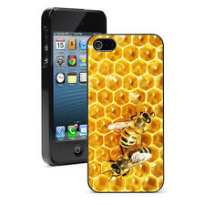 For iPhone X SE 5 5S 5c 6 6s 7 8 Plus Hard Case Cover 873 Bees on Honey Comb