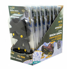 Brookstone Superior Snow Grips for Shoes Large PAIR SNOW ICE MUD GRIPS CLEATS
