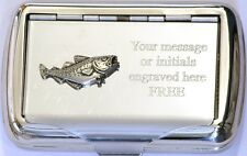 Cod Sea Fish Tobacco Hand Rolling Cigarette Roll Ups Tin Big Game Fishing Gift