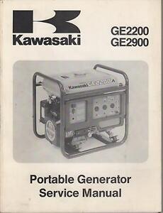 1994 KAWASAKI GE2200 & GE2900 GENERATOR SERVICE MANUAL P/N 99924-2039-01