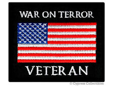 WAR ON TERROR VETERAN PATCH embroidered iron-on US MILITARY VET AFGHANISTAN IRAQ