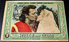 fotobusta originale STELLA DELL'INDIA Cornel Wilde Jean Wallace 1954 #1