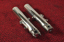 Harley Davidson FL Fully Polished Front Fork Lowers 46496-00A 46498-00A