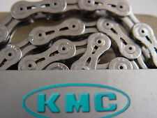 CATENA bici road KMC X9SL SILVER super LEGGERA 9V bike chain speed super light