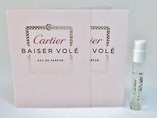 Cartier BAISER VOLE EDP Women Perfume 1.5 ml .05 oz Sample Travel Spray Vial X 2