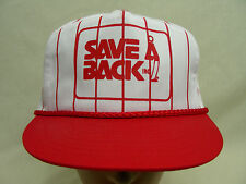 SAVE A BACK - RED PINSTRIPED - ADJUSTABLE SNAPBACK BALL CAP HAT!