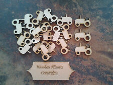 25x 3mm mdf wooden tractor shapes approx 35mm(h)x35mm(w) Craft or embellishments