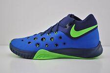 Men Nike Zoom Hyperquickness 2015 Basketball Shoe Size 9.5 Blue Green 749882 434