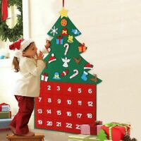 Christmas Advent Calendar Panels Set Felt Fabric Tree Calendar Xmas Decor US