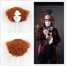 Adult Alice Electric Mad Hatter Halloween Wig Heat Resistat Synthetic Hair Wig #