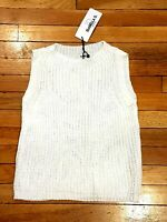 ISABELLA D. Ladies Knitted Open Weave Vest Top Sleeveless Jumper UK 10-12 NWT