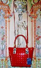 NWT Arcadia Red Signature Patent Leather/ Cheetah Calf Hair Cross Body Handbag