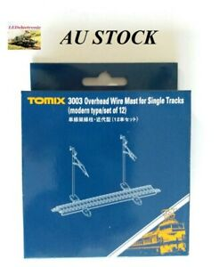 Tomix N Scale 3003 Single Track Catenary Mast Modern Type, 12 pcs, model train