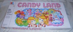 Vintage 1984 Candy Land Complete Game 64 Cards, 4 Gingerbread Men, Instructions