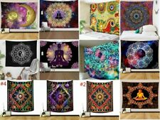 Trippy Mandala Tapestry Art Wall Hanging Psychedelic Hippie Throw Tapestries Dec
