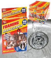 PACK OF 4 x FOAMING DRAIN CLEANER SINK PIPE SHOWER SINK UNBLOCKER SHOWER BATH