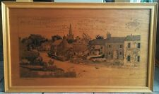 Framed Pen And Ink Drawing On Board - The Street - Chiddingly - Signed Goucher
