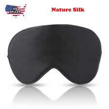 Silk travel Sleep Eye Mask Cover Padded Blindfold Soft Silky Relax Comfortable