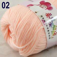 Sale New 1Ball x 50g Cashmere Silk Wool Hand Knit Wrap Shawls Crochet Yarn 02