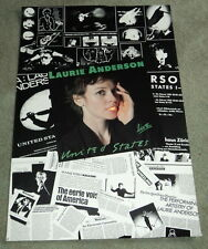 LAURIE ANDERSON UNITED STATES LIVE: 1984 ORIGINAL POSTER - Warner Bros. Records