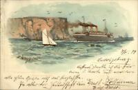 Norddeutscher Nordd Lloyd Bremen Steamship Friedrich D Grosse Willy Stower PC