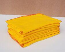 10 x grande qualità GIALLO PER LA POLVERE cotone panno da Lucidatura Pulizia