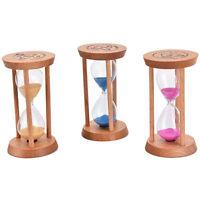 3x min cadre en bois sablier sable en verre sablier horloge décor