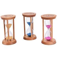 3x min cadre en bois sablier sable en verre sablier horloge décor r