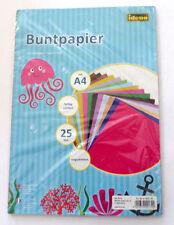 Idena Buntpapier A4 25 Blatt ungummiert farbig sortiert