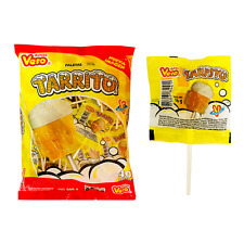 VERO TARRITO PALETA 40ct, Fruit Flavored Lollipops, Mexican Candy
