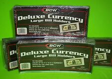 200 LARGE BILL DELUXE CURRENCY HOLDERS, SEMI-RIGID, HOLDS U.S. & OTHER CURRENCY