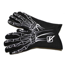 Velocita SG69 Safety Driving Gloves Racing 1 Layer Skeleton SFI White X-Large XL