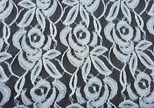 White Flower Lace Fabric by the Yard #1 2-19-16 (Bridal Lingerie)