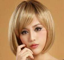 Fashion Daily Natural Blonde Bob Wig Heat Resistant Synthetic Hair Wig for Women