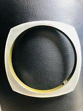 Square Bangle Bracelet Stamped Alexis Bittar Lucite Translucent