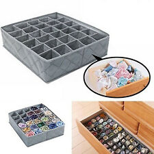 30 Slots Organiser Storage Box Wardrobe Drawer For Socks Ties Panties Underwear