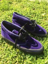 USA Vintage VANS Chukka Mid Purple Velvet Shoes Women's 8