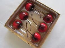 Red Resin Cherries 6 Pc Cherry Fake Faux Food Berries Tender Heart New