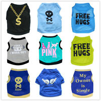 Small Medium Boy Dog Clothes Pet Shirt Puppy Vest Spring Summer Clothing Male